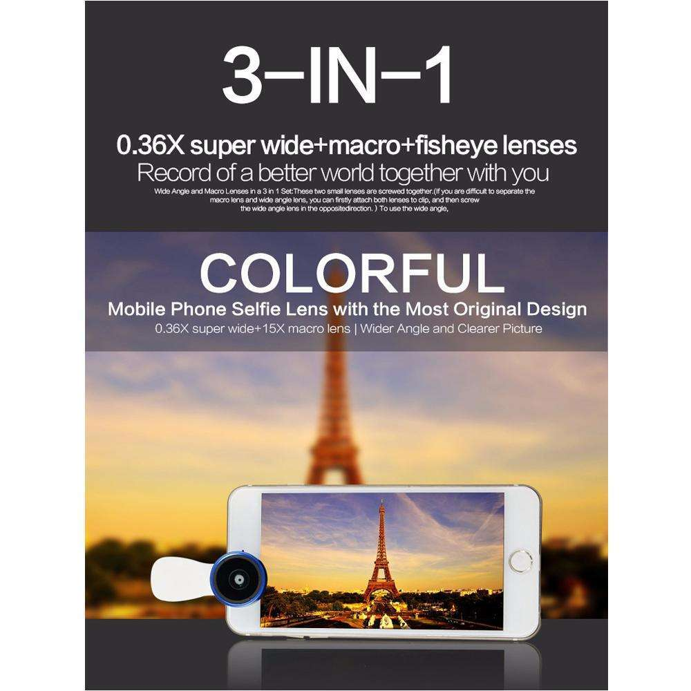 Universal Clip for all smartphone | 0.4x Super Wide Lens,Mobile Lens,Wedyut.