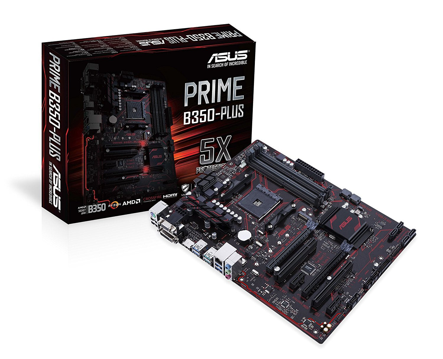 ASUS PRIME B350-PLUS AM4 AMD RYZEN B350 SATA 6Gb/s USB 3.1 USB 3.0 HDMI ATX Motherboard