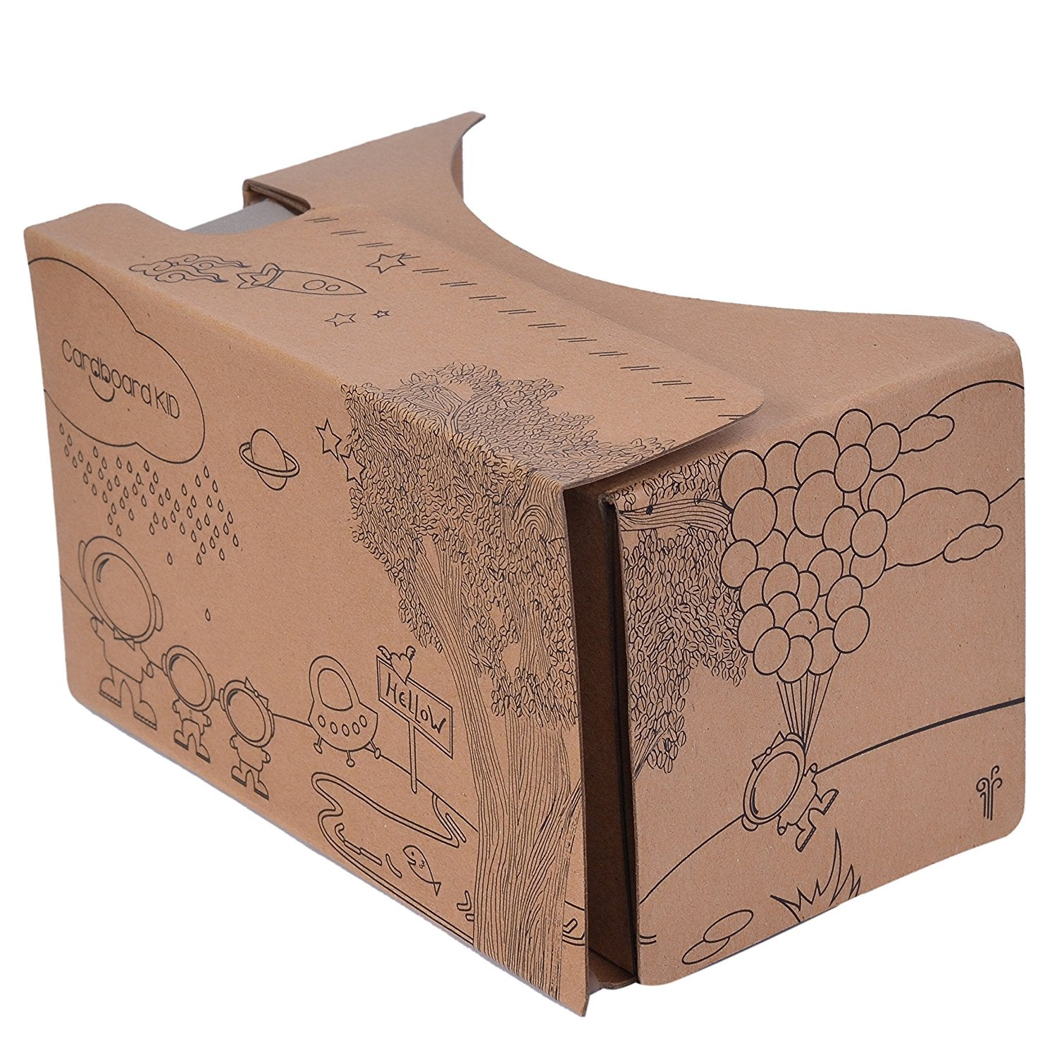 Wedyut VR Cardboard | Based on Google Cardboard V1 | Virtual Reality Headset | No Button | Perfect for movies, videos, pictures and games