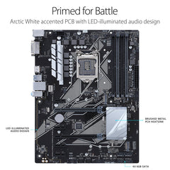 ASUS PRIME Z370-P LGA1151 DDR4 HDMI DVI M.2 Z370 ATX Motherboard with USB 3.1 for 8th Generation Intel Core Processors