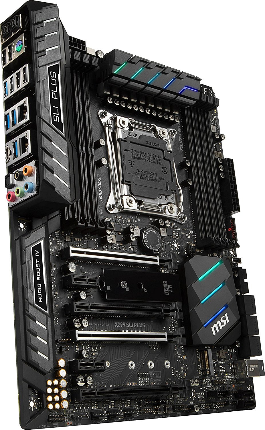 MSI Pro Series Intel X299 LGA 2066 DDR4 USB 3.1 SLI ATX Motherboard (X299 SLI Plus)