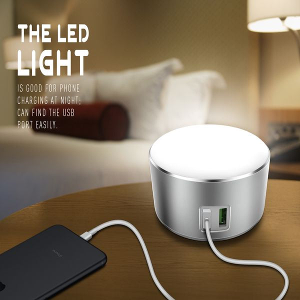 USB Travel Charger | Touch pad LED Night Light | Dual USB | 3 Mode Light | Fast Charging