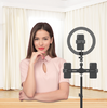 USB Power Supply Dimmable Selfie Ring Light With Adjusted Tripod