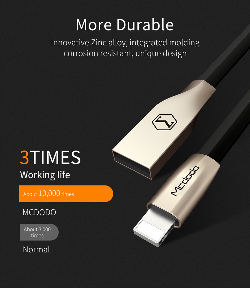 Mcdodo USB AM to Lightning Micro Data Cable | 1 Meter