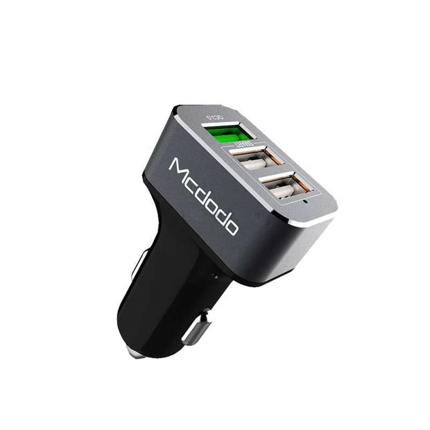 Mcdodo 3 USB port | Mini Car Charger | Qualcomm Quick Charge 3.0 | 5V-3.4A