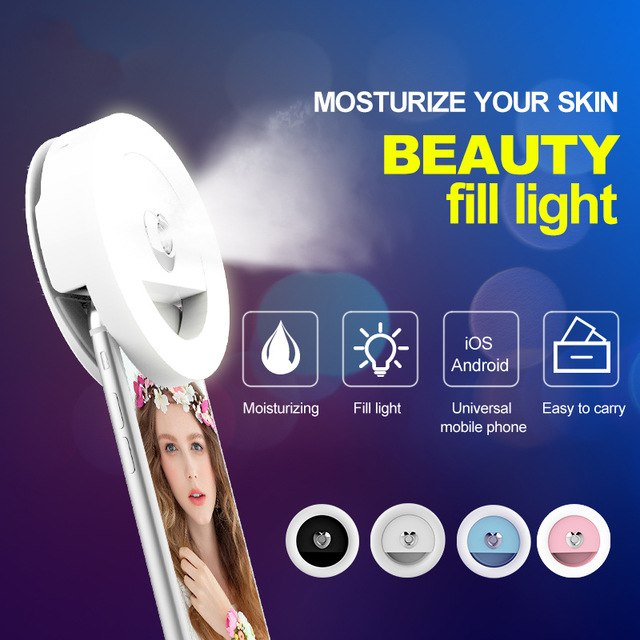 LED selfie photography ring light