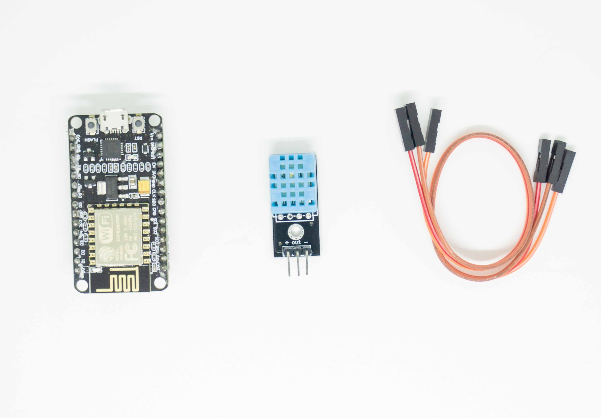 Weather Monitoring Station Wifi IOT Kit | DHT 11 | Temperature Humidity Sensor | Node MCU