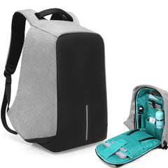 Laptop backpack with anti theft design waterproof material and USB port for charging