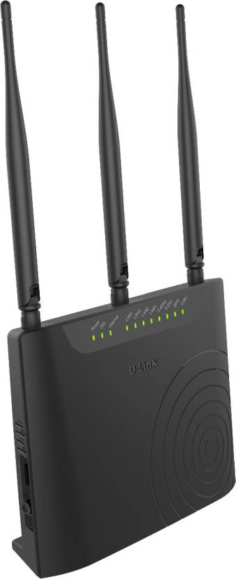 D-Link DSL-2877AL Dual Band Wireless AC750 ADSL2+ Modem Router (Black)