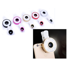 Universal LED for all smartphone | 6 in 1 Selfie lens | LED fisheye + wide angle,Mobile Lens,Wedyut.