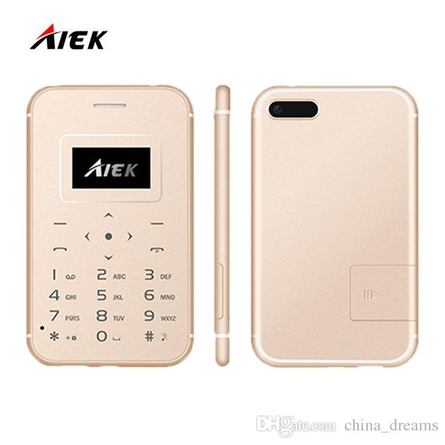 AIEK X8 Card Mobile Phone, 0.96 inch Screen, MT6261M, 21 Keys, MP3, LED Torch, FM, Bluetooth, GSM | GOLD | BLACK |SILVER
