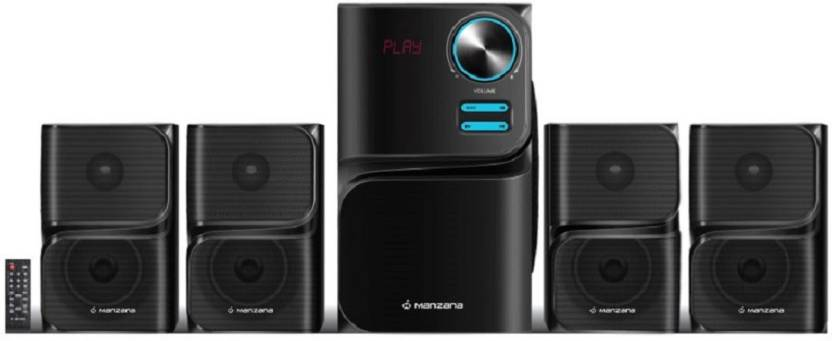 Manzana Blu Megatone 4.1 Portable Bluetooth Home Audio Speaker  (Black, 4.1 Channel)