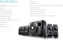 F&D 3000 X 5.1 Channel Multimedia Speakers (Black)