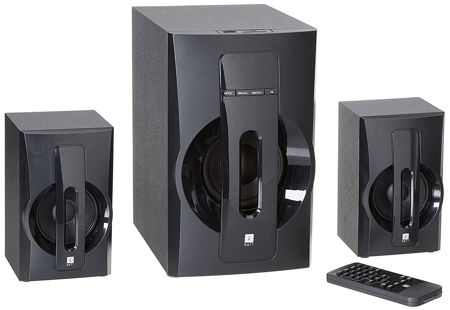 iBall Tarang Lion BT 2.1 Channel Multimedia Speakers (Black)