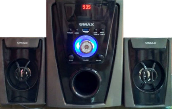 Umax 2600U Home Audio Speaker  (Black, 2.1 Channel)