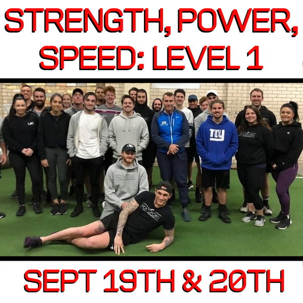 Level 1: Strength, Power, Speed Certification (VIC) (Sept 19/20th 2020)