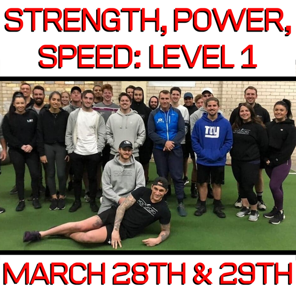 Level 1: Strength, Power, Speed Certification Workshop (VIC) (March 28/29th 2020)