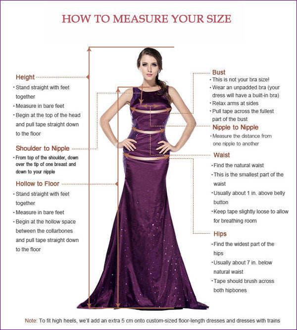 measuring guide for prom dresses,wedding dresses,homecoming dresses of promnova