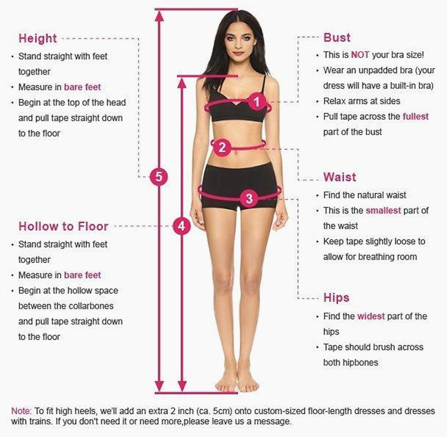 How to measure | homecoming dresses | prom dresses | wedding dresses | Promnova.com