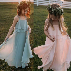 Cute Chiffon Lovely Comfortable Simple Flower Girl Dresses PF103