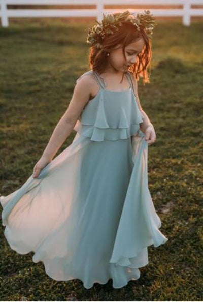 Cute Chiffon Lovely Comfortable Simple Flower Girl Dresses