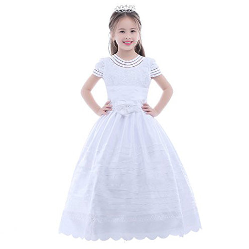 Ball Gown Short Sleeves First Communion Dress Flower Girl Dress