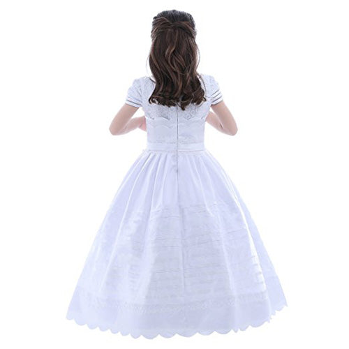 Copy of Ivory Tulle A-line Lace Flower Girl Dresses,Lovely Flower Girl Dresses, PF101