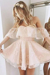 Cheap Tulle Lace Short Prom Dress, Cute Homecoming Dress for Teens, PH107