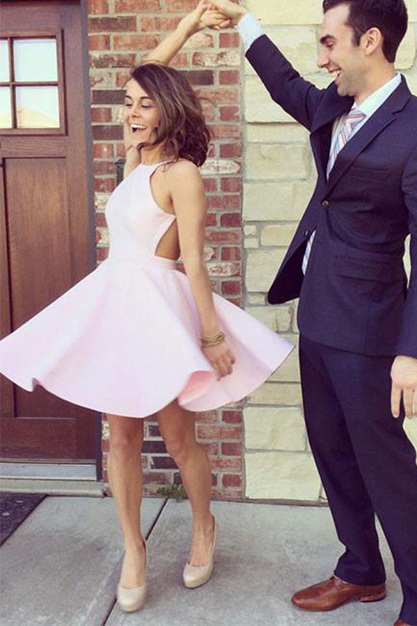 Simple Pink Homecoming Dresses, Short Prom Dress, Cute Party Dress, PH109