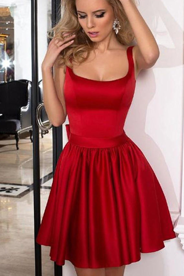 Cute A-Line Homecoming Dress,Fashion Strap Short Prom Dress, PH230