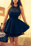 Front Mesh Cute Slim Homecoming Dresses for Teens,Short Prom Dress, SH245