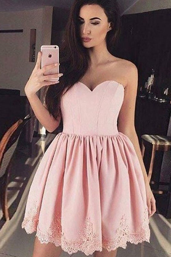 Cute Pink Sweetheart Cheap Short Prom Dress Homecoming Dress,PH331