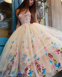 Tulle Princess Ball Gown Lace Top Strapless Homecoming Dresses Tea Length Prom Dress from promnova.com