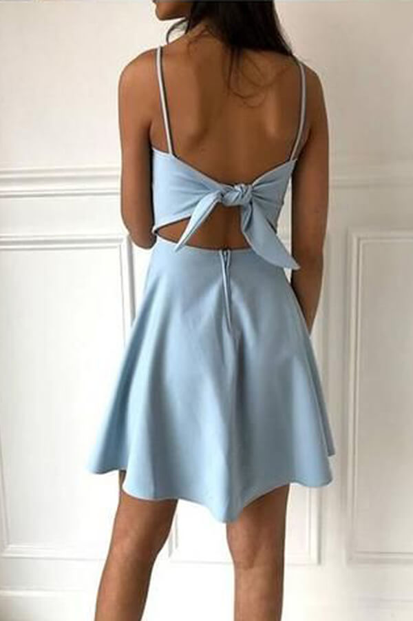 Light Blue Satin Simple Homecoming Dresses PH353 | homecoming dresses | party dresses | short prom dresses | dresses for homecoming | long sleeve homecoming dresses | short homecoming dresses | homecoming dresses short | homecoming dresses cheap | cheap homecoming dresses | plus size homecoming dresses | Promnova