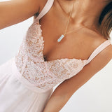 Long Chiffon V-neck Baby Pink Prom Dress,Cute Evening Dress, PL113