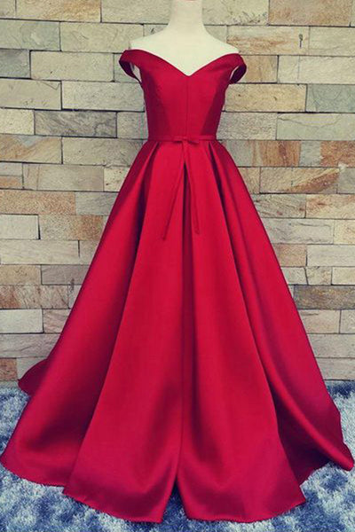 Cheap Red Ball Gown Prom Dress,Formal Dress,Long Homecoming Dress,PL126