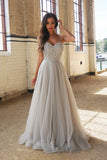 New Arrival Floor-Length A-Line Spaghetti Straps Prom Dress with Beading,PL139