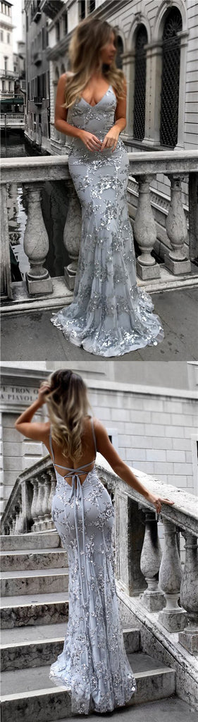 06cf07be754 ... Silver Sequin Sparkly Mermaid Newest Prom Dresses, Evening Dresses at  promnova.com ...