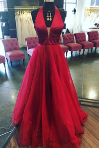 Burgundy A-line Long Prom Dresses,Evening Dresses,Party Dresses PL287