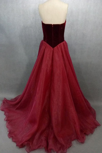 Gorgeous Flower V-Neck A-line Long Prom Dress,Evening Dress PL299