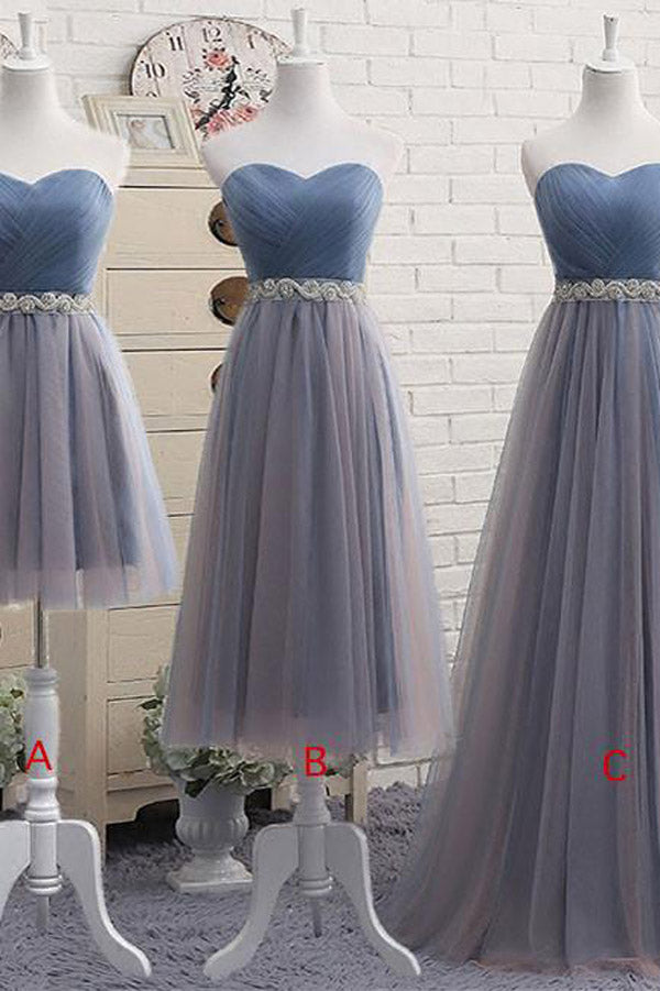 Cute Cheap Tulle Sweetheart Neck Prom Dress, Tulle Bridesmaid Dress PL324