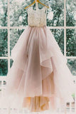 Beautiful Inexpensive A Line Tulle Open Back Wedding Dress, PW176