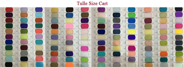 Tulle Color swatches for homecoming dresses at promnova.com