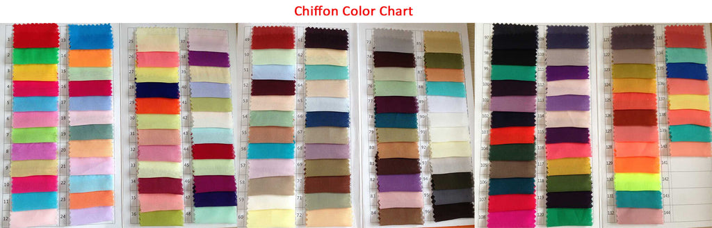 Chiffon color charts | prom dresses | evening dresses | wedding dresses | bridesmaid dresses | homecoming dresses | Promnova.com