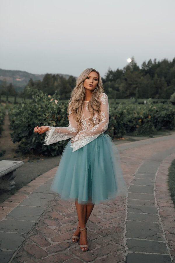 Light Sky Blue lace Homecoming Dresses,Cheap Short Homecoming Dresses for teens, SH244 | Sky Blue homecoming dresses | long sleeves homecoming dresses | tulle homecoming dresses | homecoming dresses cheap | homecoming dresses online | graduation dresses | school dance | Promnova.com
