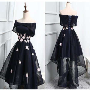 promnova.com|Off shoulder  Chic Asymmetrical Short Prom Dress Party Dress