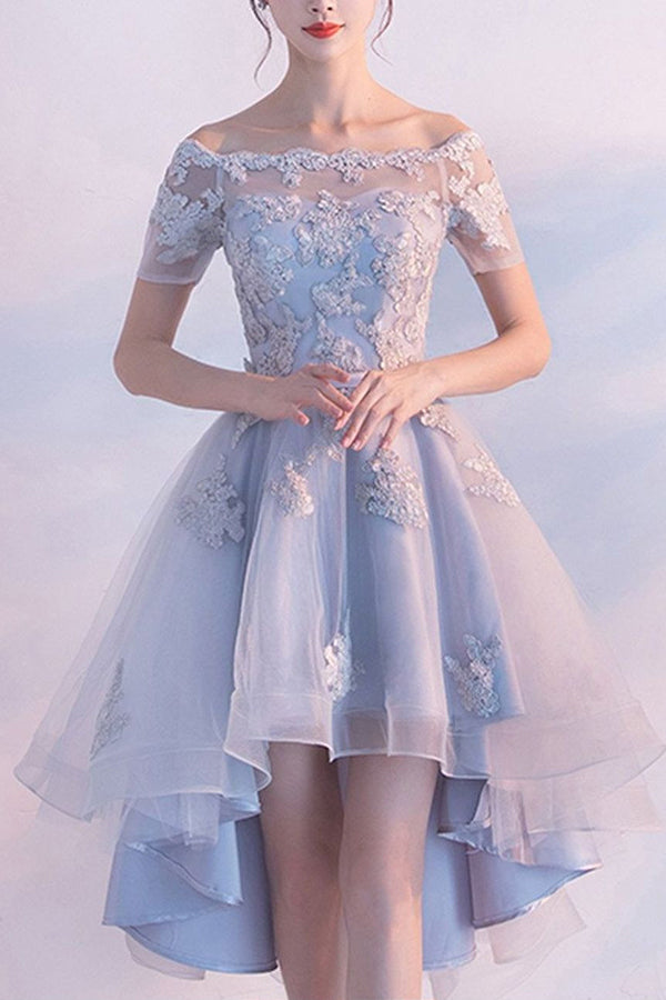 Sexy Off-the-shoulder Tulle Short Homecoming Dress  Prom Dress ,SH253