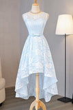 Light Sky Blue Asymmetrical Short Tulle Homecoming Dress Party Dress, SH264