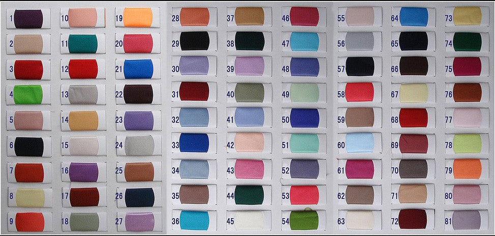 Satin Color Swatches|promnova.com