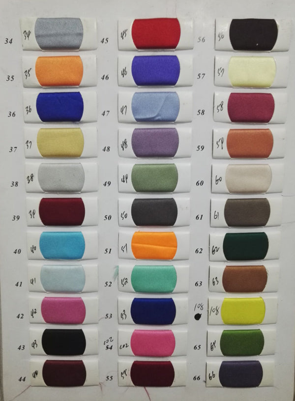Satin color swatches from www.promnova.com